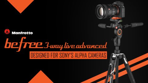 Manfrotto Announces the New Befree 3-Way Live Advanced Tripod Designed for Sony's Alpha Cameras
