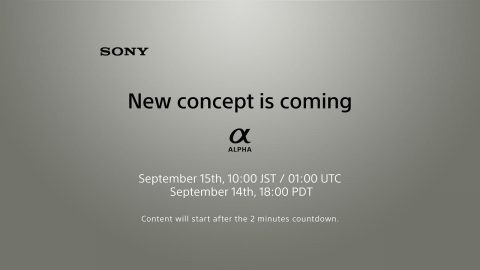 "Sony Confirms with Teaser a ""New Concept"" Alpha Camera is Coming"