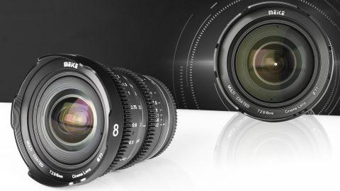 Meike Announces an 8mm T2.9 Super-Wide-Angle Cine Prime for MFT Cameras