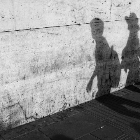 Family in the shadow