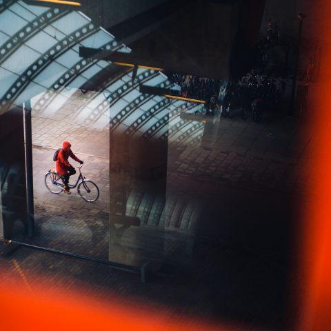 Biker in Red