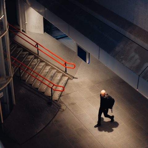 Man in RAI Station