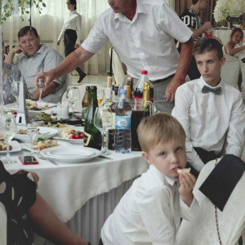 kid at a wedding