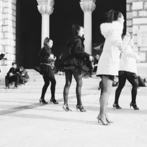 Dancers in the cold