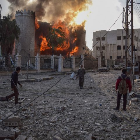 Aftermath of Airstrikes in Syria